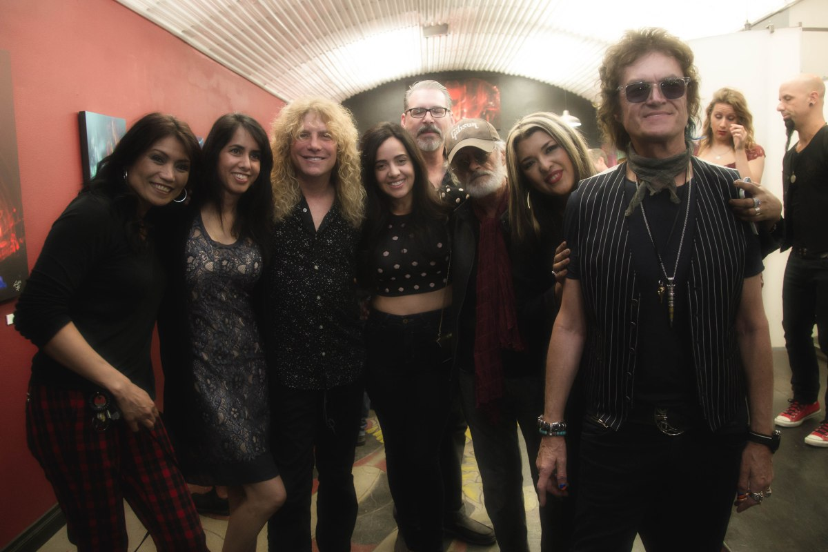 Original Guns N' Roses Drummer Steven Adler Debuts Fine Artwork Collection at Forgotten Saints L.A.