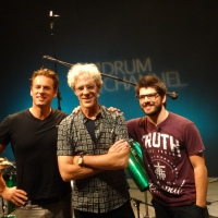Stewart Copeland, Cobus Potgeiter and Thomas Lang Drum Channel Oxnard, CA 9/24/2013