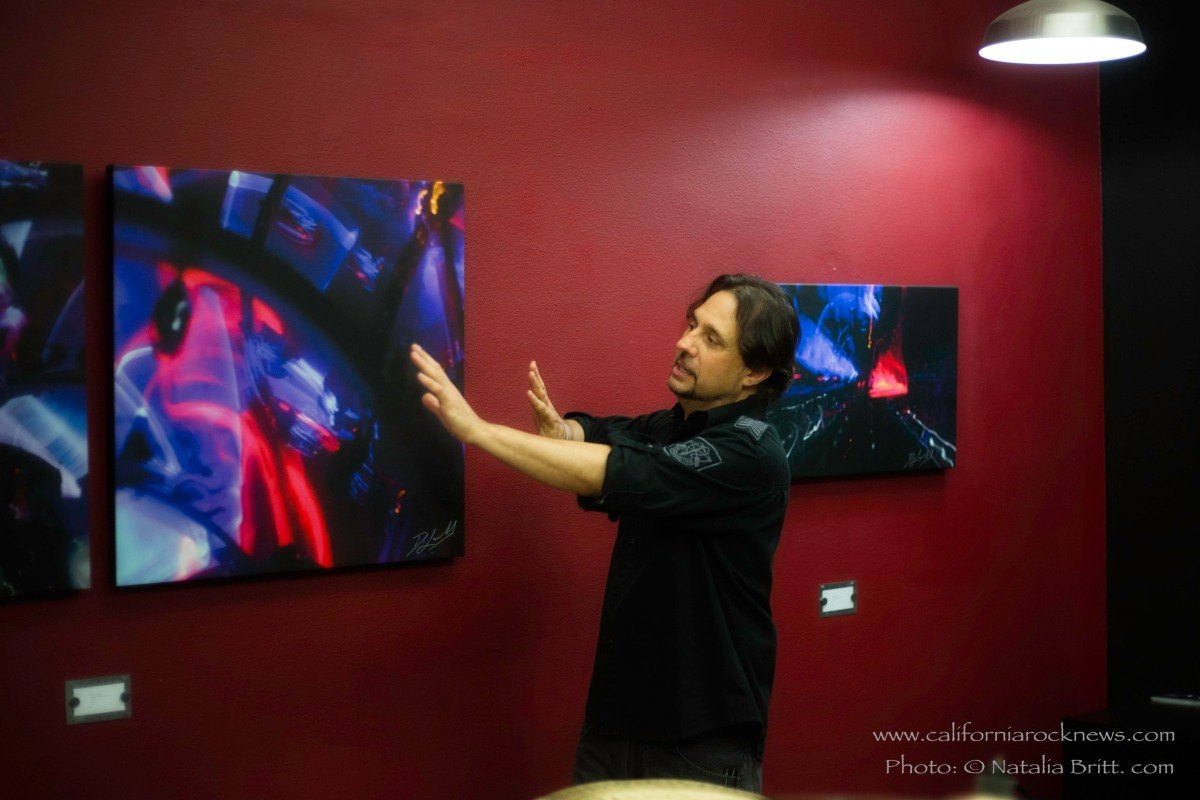 Dave Lombardo Scene Four at Forgotten Saints Hollywood - drum demonstration of the artwork 7/11/2015