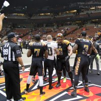 LA KISS Defeated LAS VEGAS OUTLAWS at The Honda Center 7/18/2015 Rayshaun Kizer Voted Week 17 AFL MVP