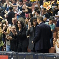 LA KISS SEASON 2 FINAL HOME GAME vs SAN JOSE SABERCATS with GENE SIMMONS, PAUL STANLEY and ERIC SINGER of KISS in attendance 8/8/2015