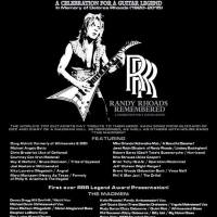 Randy Rhoads Remembered: A Celebration Of A Legend to take place Saturday, January 23 in Anaheim