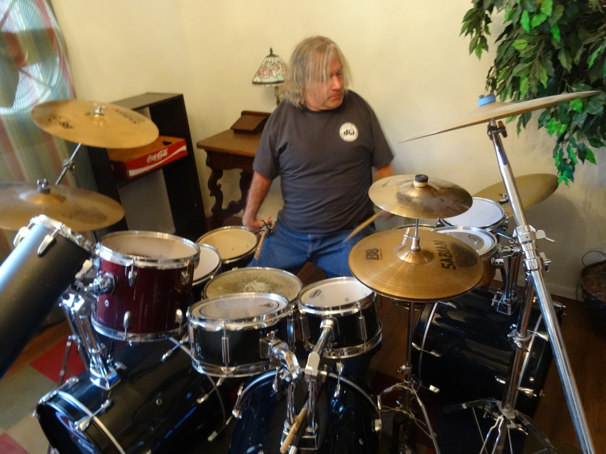 DEAN ZIMMER Drumming Footage: Jamming On The Drums 2/24/2016