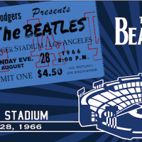 50th Anniversary Celebrating The Beatles At Dodger Stadium in 1966