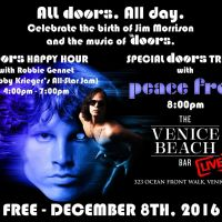HISTORIC VENICE BEACH LANDMARK TO CELEBRATE BIRTHDAY  OF THE DOORS' JIM MORRISON