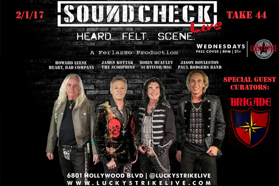 soundcheck live with special guest curators brigade 2 1 2017 california rock news. Black Bedroom Furniture Sets. Home Design Ideas