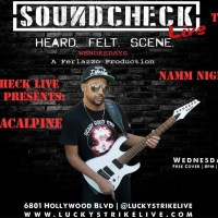 NAMM Night 2017 featuring Rafael Moreira, Tony MacAlpine, Nita Strauss and Dave Ellefson at SOUNDCHECK LIVE at Lucky Strike on January 18