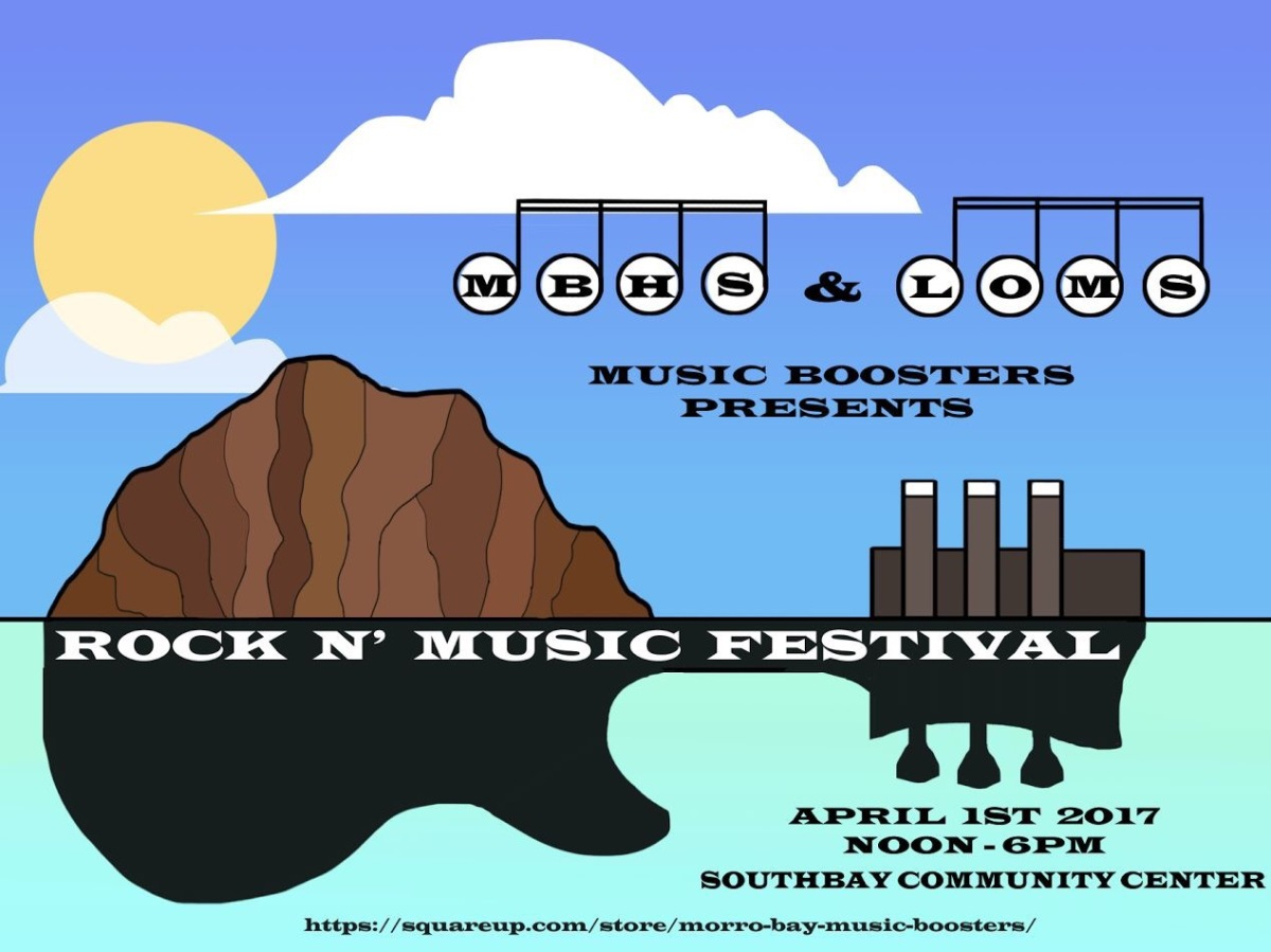 MORRO BAY ROCK 'N MUSIC FESTIVAL RAISES FUNDS FOR LOCAL MUSIC STUDENTS ON APRIL 1