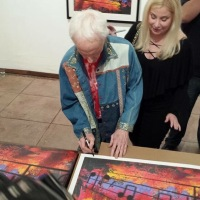 "Robby Krieger's ""Light My Fire"" Art Exhibit for Charity at Mr Musichead Gallery"