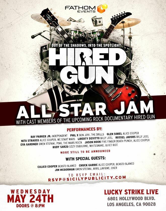 """Soundcheck Live """"Hired Gun: Out of the Shadows, Into The Spotlight ..."""