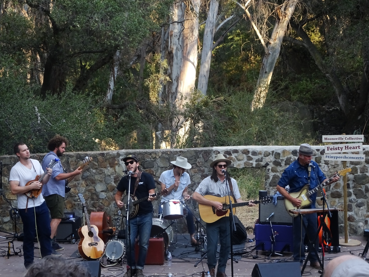 Moonsville Collective and Feisty Heart Tiny Porch Concert Series Peter Strauss Ranch 7/9/2017