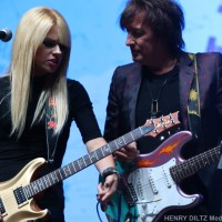 Richie Sambora and Orianthi 10th Annual Scott Medlock – Robby Krieger All Star Concert Benefiting St. Jude Children's Research 8/27/2017 Saddle Rock Ranch Photos by Henry Diltz