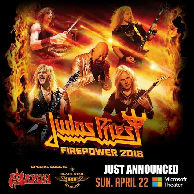 Judas priest set to launch firepower 2018 north american for Coliseum motor company casper wy