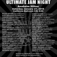ULTIMATE JAM NIGHT Lineup Adds Sheehan, Corey Glover, Stu Hamm, Kotzen, Skolnick, Carmine Appice, Don Dokken, Mark Wood and more for the Anaheim Hilton Show During NAMM