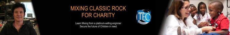 mixing for Charity banner
