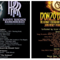 Bonzo Bash and Randy Rhoads Remembered to Feature Doug Aldrich, Bumblefoot, Rudy Sarzo, MAB, Gregg Bissonette, Kenny Aronoff, Soussan, Tichy and Many more January 2019