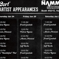 Bumblefoot, Jeff Berlin, Frank Gambale Hedras Ramos and Alessio Menconi Perform at Cort's NAMM Booth